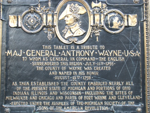 "1796 : Wayne County Named in Honor of General ""Mad"" Anthony Wayne"