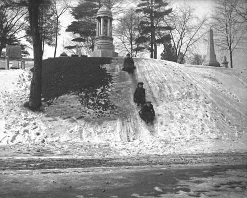 elmwood-cemetery-sledding